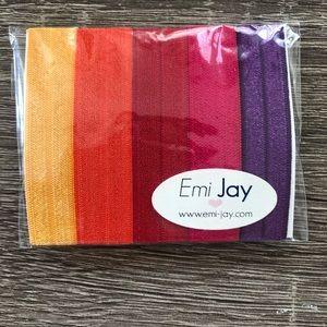 Pack of 5 Hair Ties NWT by Emi-Jay